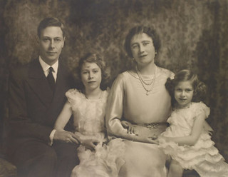 King George VI and Queen Elizabeth with Princesses Elizabth and Margaret | by The British Monarchy