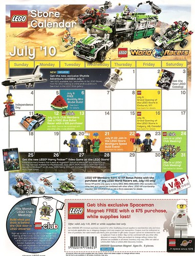 Lego Store Calendar July 2010 (Front) | by yellowcastledujour