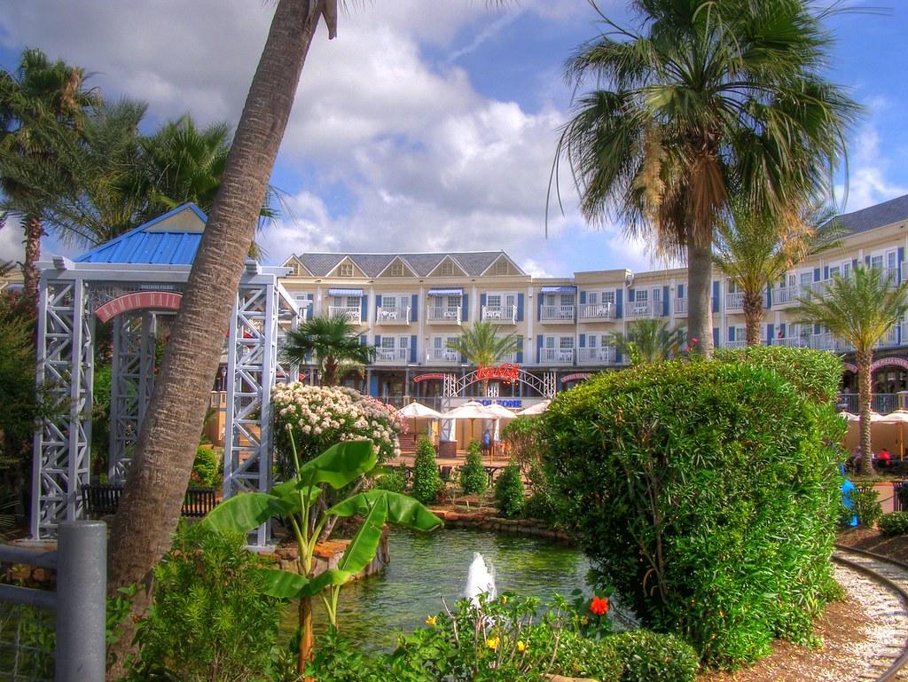 Hdr Gazebo And Kemah Boardwalk Hotel View Of Kemah