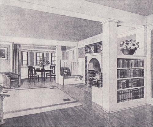 1909 Bungalow Interior  in White | Source: Ladies Home