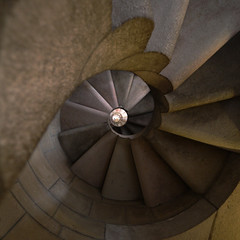 Spiral stair at La Sagrada Familia II | by tom.wright