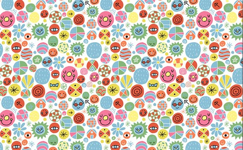 Happy People Repeat Pattern   Another repeat pattern. I am
