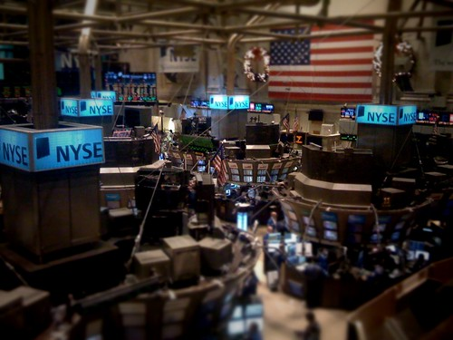 NYSE trading floor (tilt-shifted) | by toddxholmes