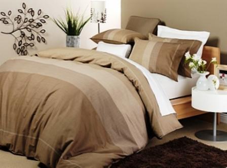 Bed Linen Quilt Doona Cover Sets Oxford Mocha Unisex Men S