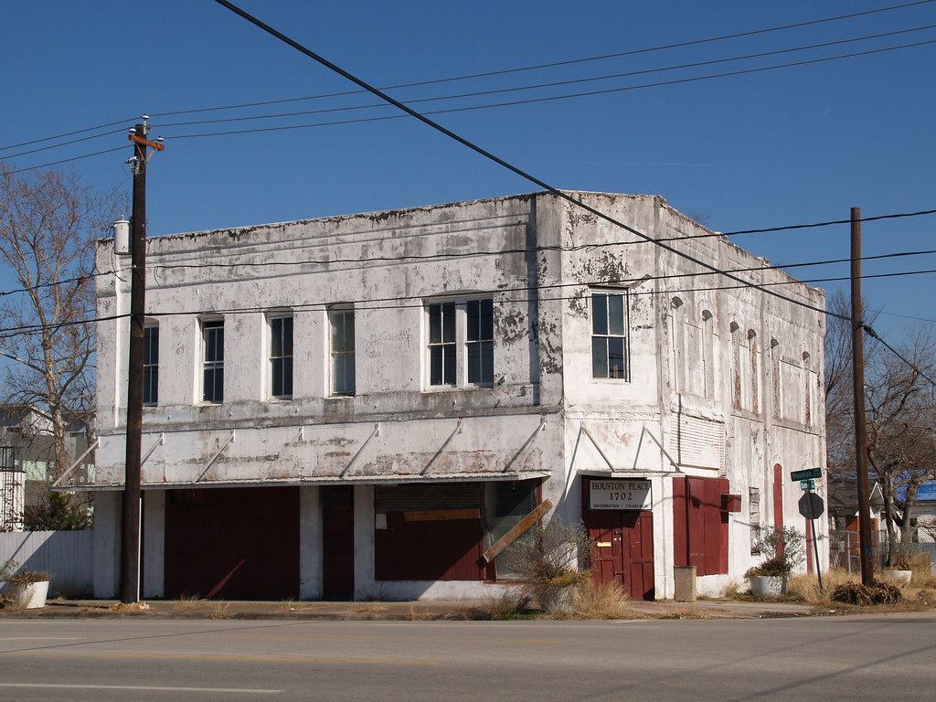 Houston Texas Old Historic Sixth Ward Near Downtown Roads