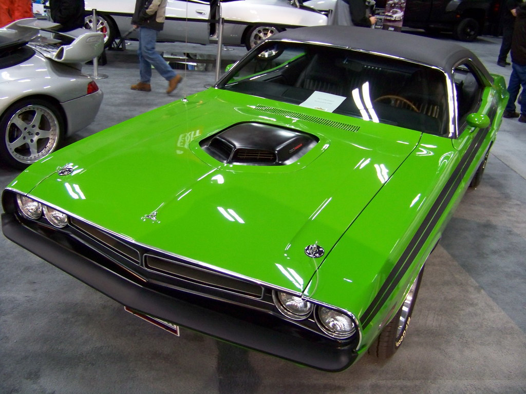 car10a12 1971 green dodge challenger r t at edmonton car s flickr. Black Bedroom Furniture Sets. Home Design Ideas