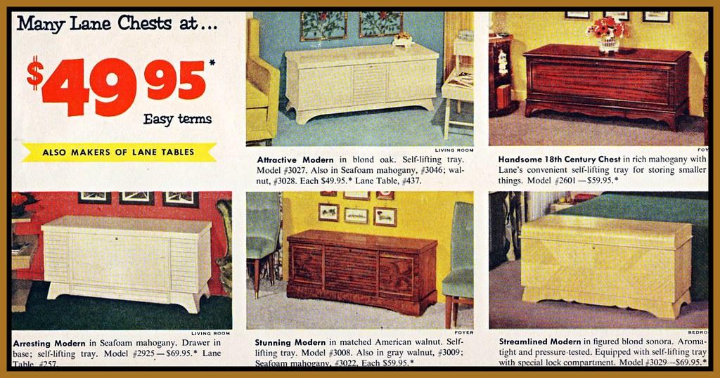 1957 Vintage Ad, Lane Cedar Chests