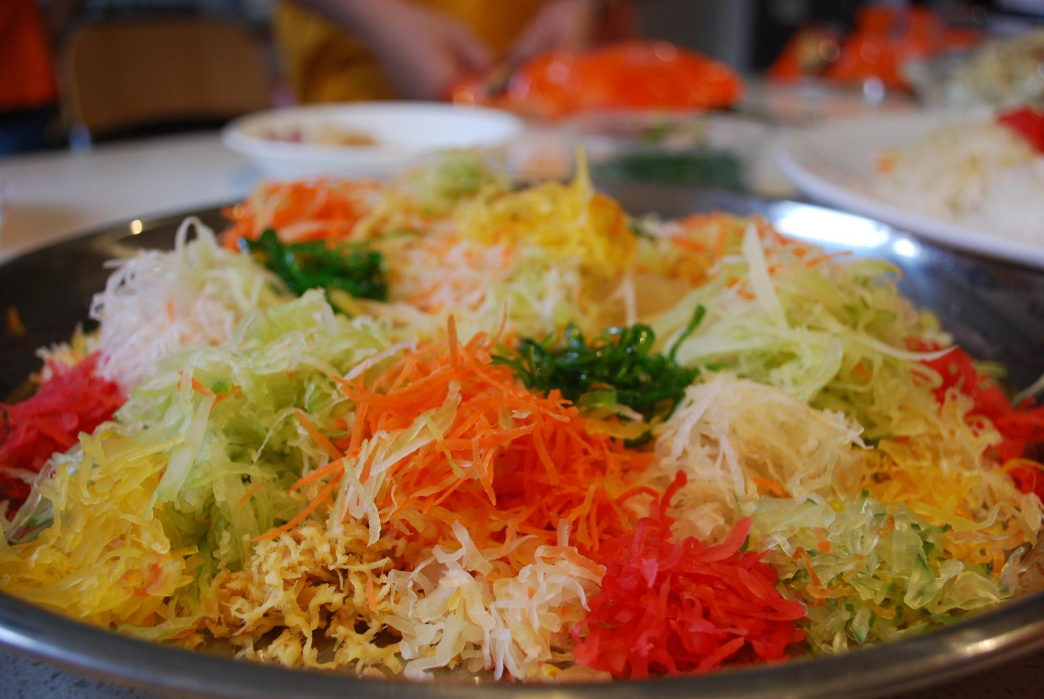 Shredded vegetables - Aunt Lay Leong's Yu Sheng - Alpha's arrangement
