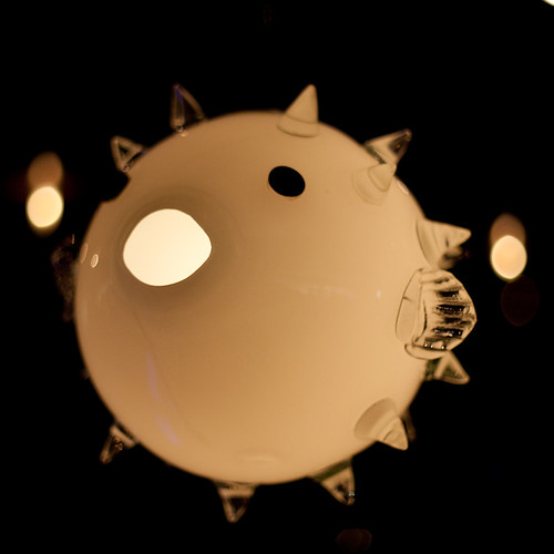 Puffer fish lamp shade 365 day 43 we went to the for Puffer fish lamp