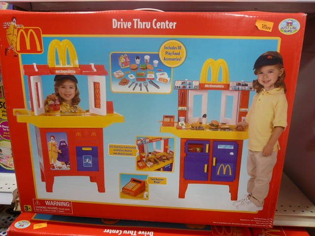Kitchen Playset Walmart McDonalds Drive-Thru playset | I have no words. No words ...