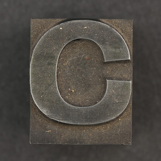 Caslon metal type letter C | by Leo Reynolds