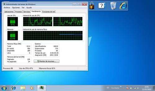 Windows 7 atazak dell mini 10v ikusten denez sistema for Affichage fenetre miniature windows 7