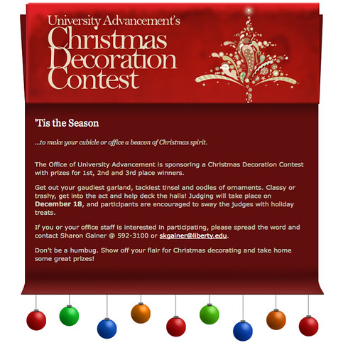 office christmas decoration contest by debfunk - Christmas Decorating Contest