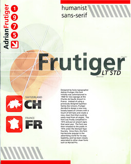 Typography Poster: Frutiger | by trinadafilipina