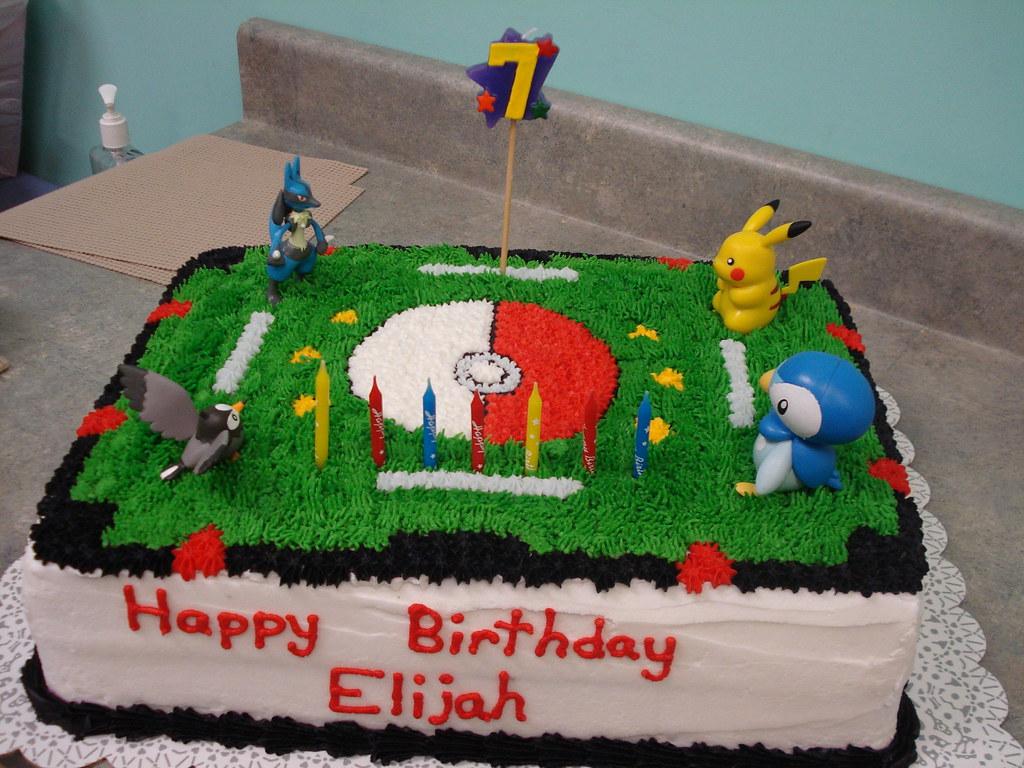 Pokemon stadium elijah s 7th birthday party continued for Decoration ideas 7th birthday party