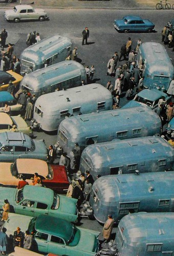 1950s Airstream Trailers Camper Trailers Vintage Color Photo Automobiles Cars | by Christian Montone