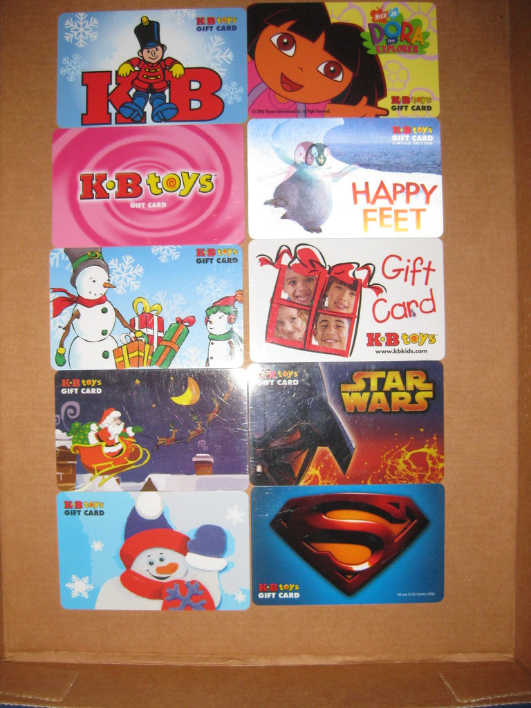 Toys For Cards : Kb toys gift cards i acquired these when