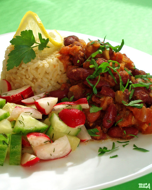 dieter's dream beans and rice   from 'The Two-Week Wellness