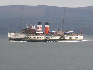 Waverley at speed heading down river heading for her annual survey in the Garvel dry dock in Greenock | by Western SMT
