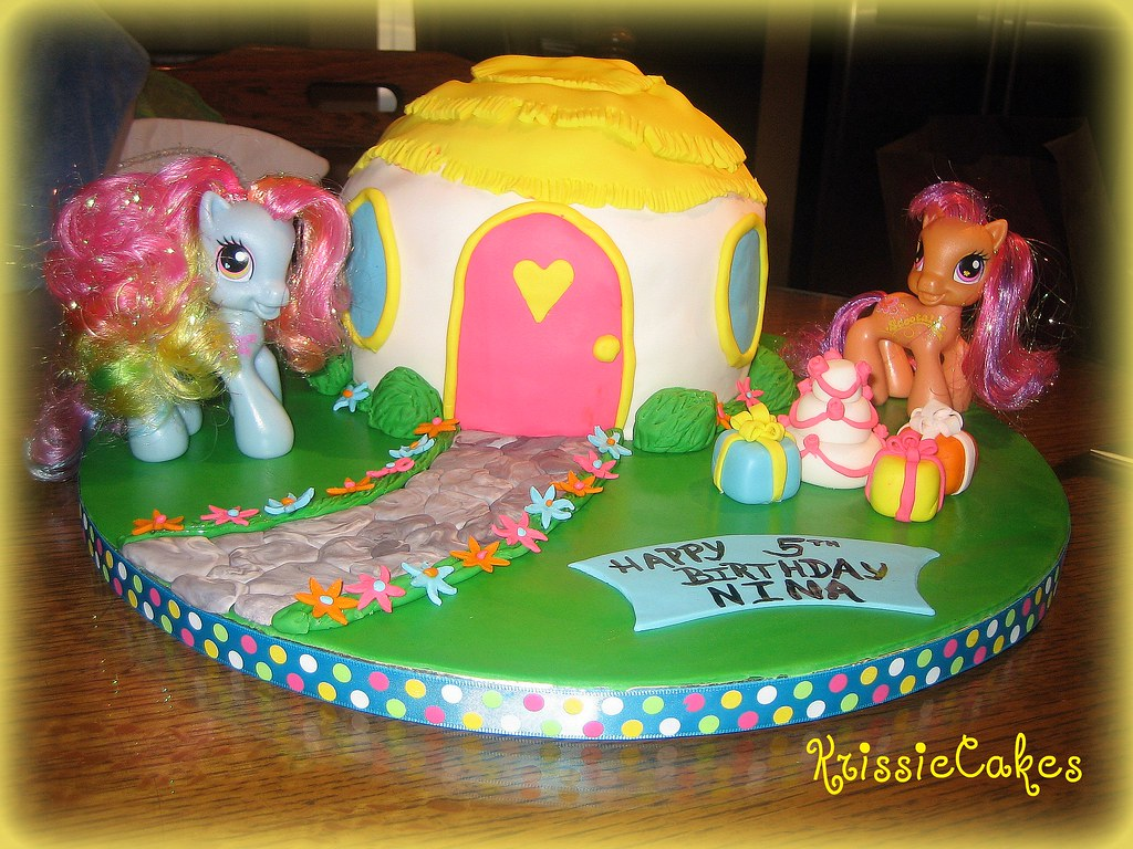 Ninas My Little Pony Birthday Cake This vanilla cake with Flickr
