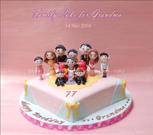 Family Cake For Grandma 1 | Honey's Mini Cakes | Flickr