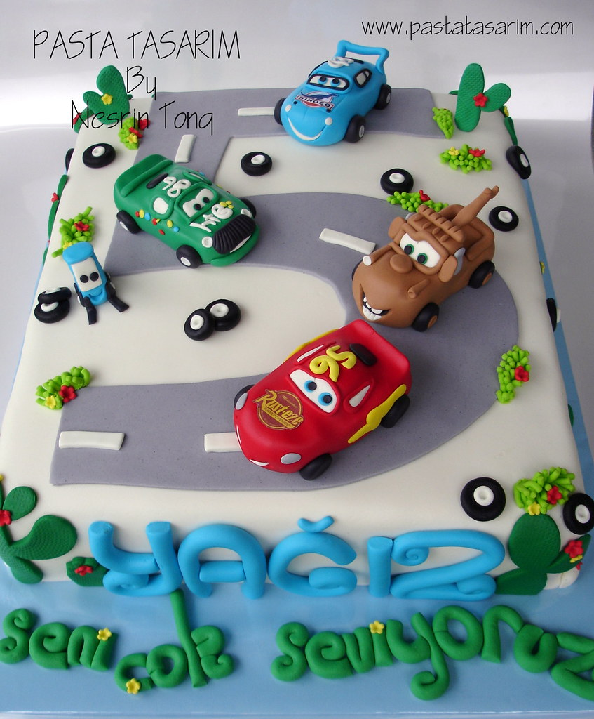 Disney Cars Birthday Cake Yaiz Cake By Nesrn Tong Flickr