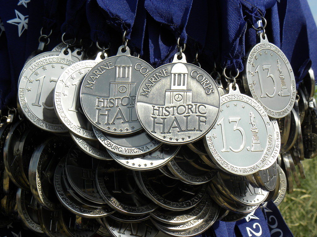 The gorgeous finisher medal!   Marine Corps Marathon   Flickr