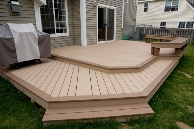 deck design ideas trex cedar hardwood alaskan0119 saddle t