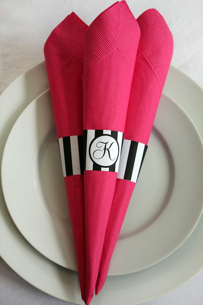 printable striped paper napkin rings with monogram brigitt u2026