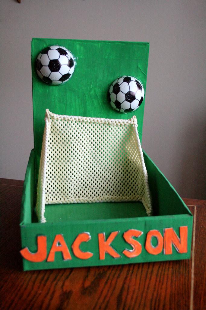 jacks soccer goal valentine box nicole cleghorn flickr - Soccer Valentine Box