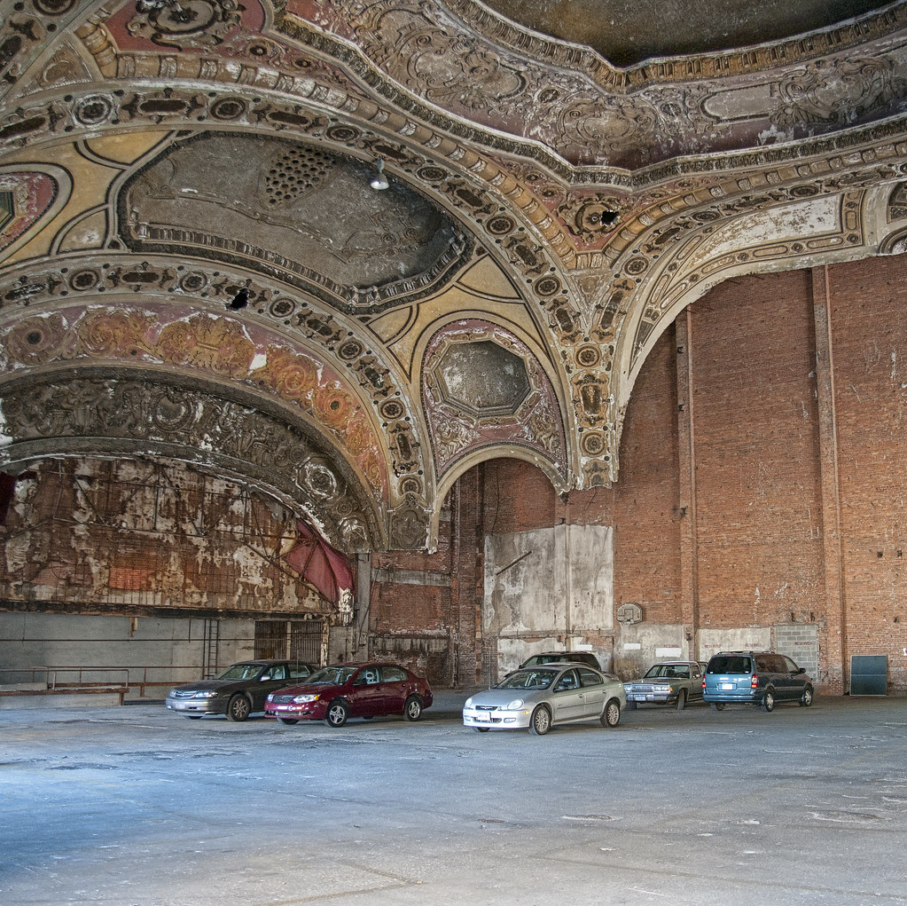 Old Detroit Theater Converted To Parking Garage Bob
