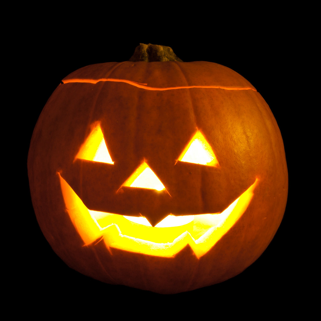 Jack-o'-lantern Carved From Pumpkins And