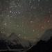 星空下的汗腾格里峰 / Mt. Khan Tengri under Galaxy