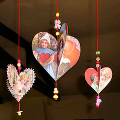 Vintage Valentine Kissing Dangle Craft | by www.vintageimagecraft.com