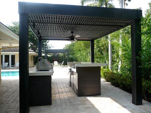 modern outdoor kitchen elegant custom modern outdoor kitchen with grill by kitchens living of florida patiobarpoolsiu2026 flickr
