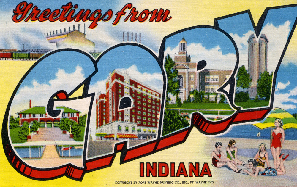 Greetings from Gary, Indiana - Large Letter Postcard | Flickr