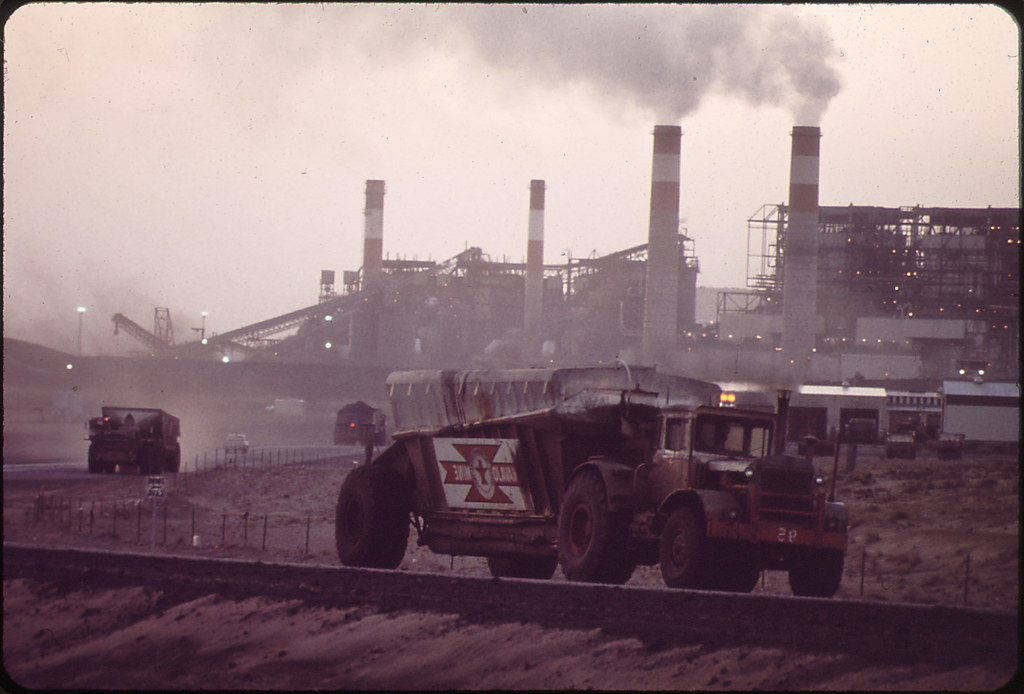 trucks haul coal from the navajo mine to the four corners flickr