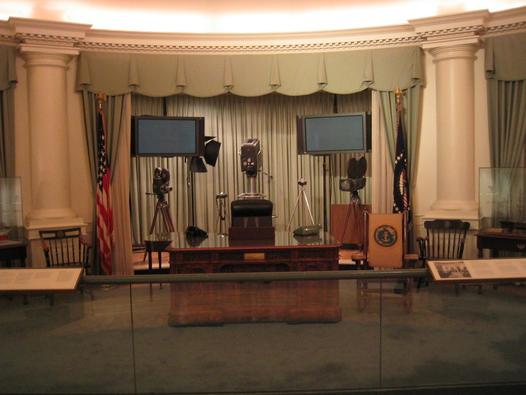 jfk in oval office. Jfk Oval Office. JFK Library - Office 2 | By BrianACreech In [