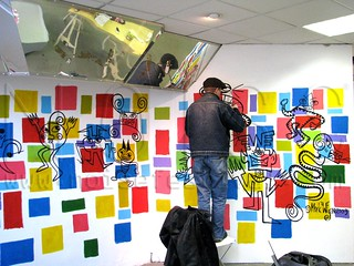 Mark Wigan paints @ NOISELAB | by NOISE Lab