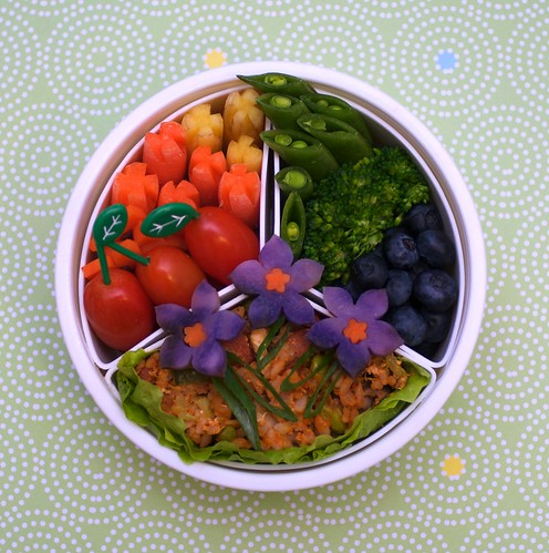 flower fried rice (redux!) bento | by gamene