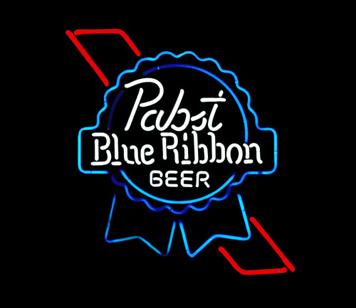 pabst blue ribbon neon sign
