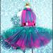 Hot Pink & Teal tutu dress