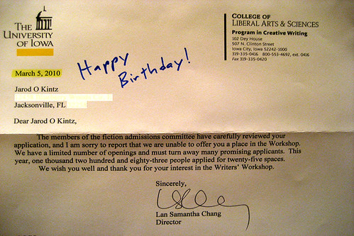 Letter Of Rejection Sample Business