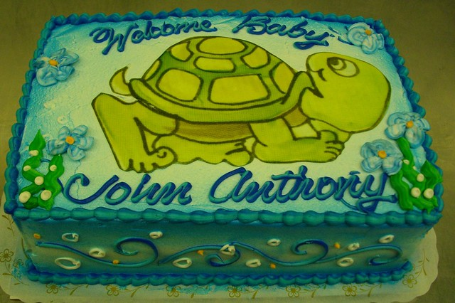 turtle baby shower cakes