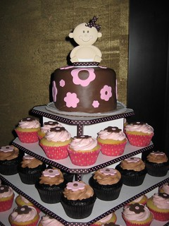 Baby Shower cupcake tower | by kgroovy
