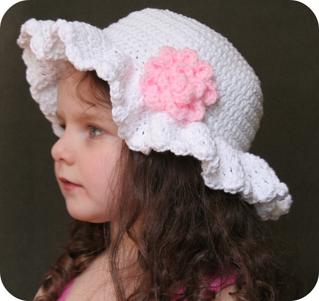 Crochet Baby Easter Hat Patterns : Easter Bonnet Hat Crochet Pattern Jillian Adorable ...