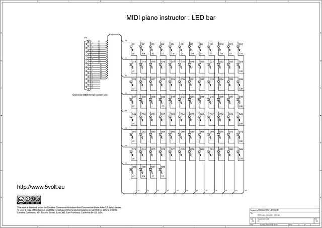 midi piano instructor   schematics of the led bar