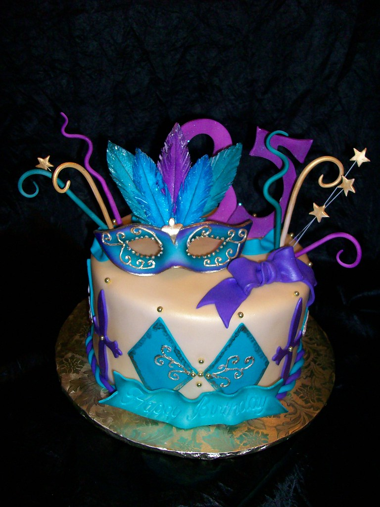 Mardi Gras Sweet  Birthday Cakes