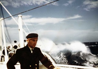 Delius in storm with  engineer on deck | by James Burrows