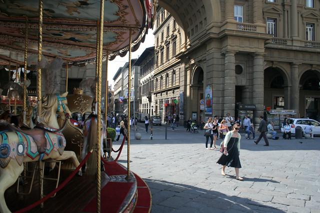 Una plaza de Florencia